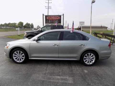 2013 Volkswagen Passat for sale at MYLENBUSCH AUTO SOURCE in O` Fallon MO