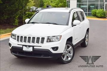 2014 Jeep Compass for sale at Undisputed Auto Sales & Repair Inc in Chantilly VA