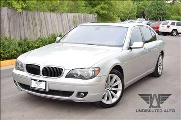 2007 BMW 7 Series for sale at Undisputed Auto Sales & Repair Inc in Chantilly VA