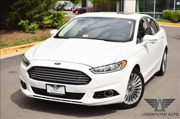 2014 Ford Fusion for sale at Undisputed Auto Sales & Repair Inc in Chantilly VA