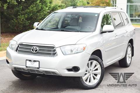 2009 Toyota Highlander Hybrid for sale at Undisputed Auto Sales & Repair Inc in Chantilly VA