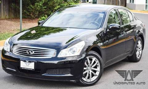 2007 Infiniti G35 for sale at Undisputed Auto Sales & Repair Inc in Chantilly VA