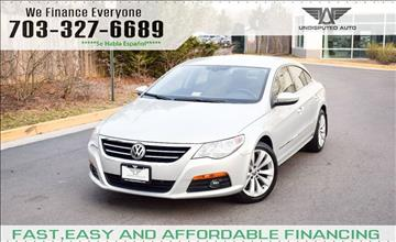 2010 Volkswagen CC for sale at Undisputed Auto Sales & Repair Inc in Chantilly VA