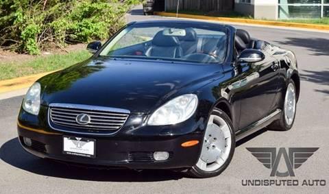 2002 Lexus SC 430 for sale at Undisputed Auto Sales & Repair Inc in Chantilly VA