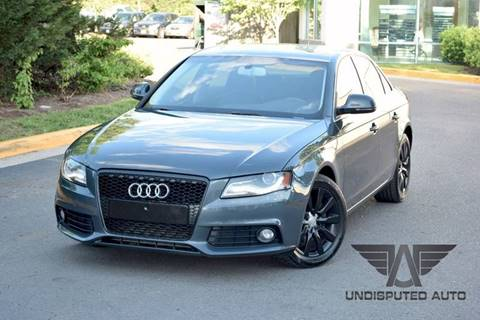 2009 Audi A4 for sale at Undisputed Auto Sales & Repair Inc in Chantilly VA