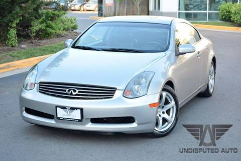 2004 Infiniti G35 for sale at Undisputed Auto Sales & Repair Inc in Chantilly VA