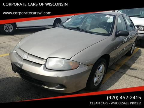 2003 Chevrolet Cavalier for sale at CORPORATE CARS OF WISCONSIN - DAVES AUTO SALES OF SHEBOYGAN in Sheboygan WI