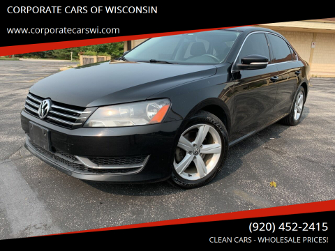 2014 Volkswagen Passat for sale at CORPORATE CARS OF WISCONSIN in Sheboygan WI