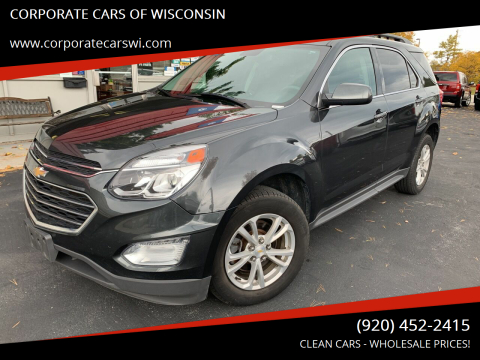 2017 Chevrolet Equinox for sale at CORPORATE CARS OF WISCONSIN in Sheboygan WI