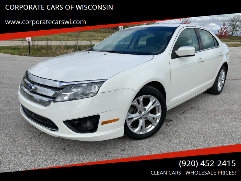 2012 Ford Fusion for sale at CORPORATE CARS OF WISCONSIN in Sheboygan WI