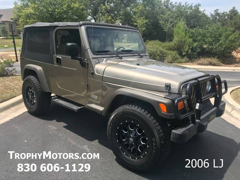 2006 jeep wrangler unlimited 2dr suv 4wd in new braunfels for Trophy motors new braunfels texas