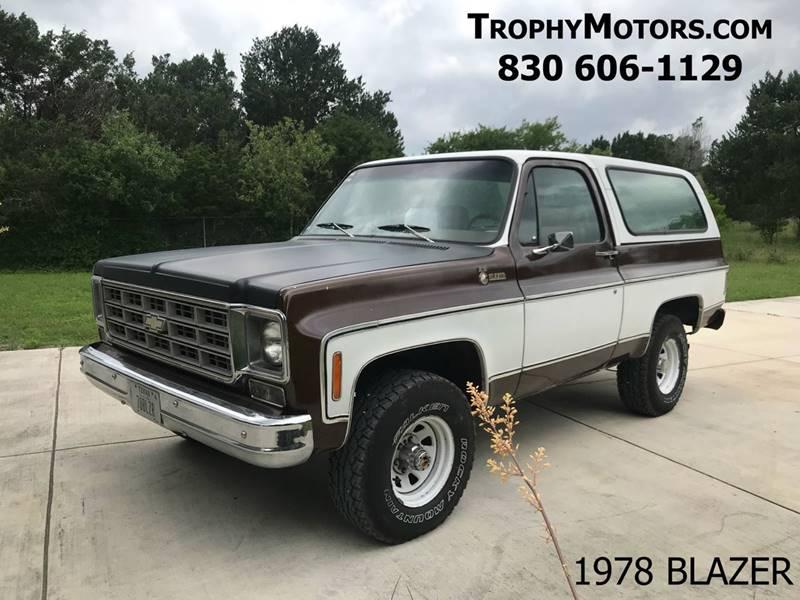 1978 Chevrolet Blazer K5 In New Braunfels TX - TROPHY MOTORS