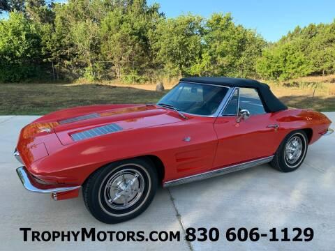 1963 Chevrolet Corvette for sale at TROPHY MOTORS in New Braunfels TX