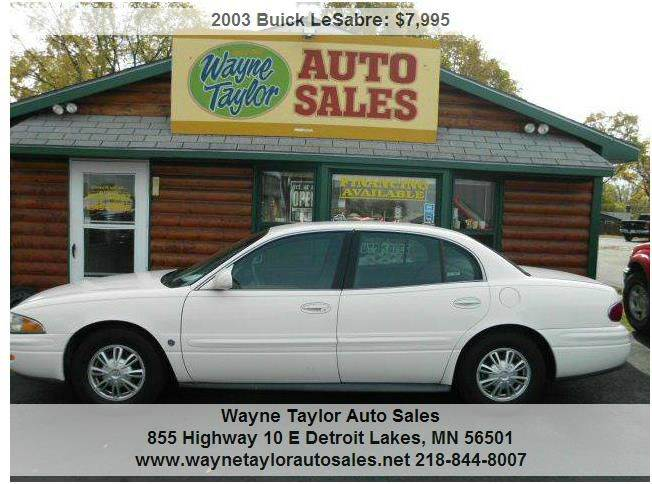2003 Buick LeSabre for sale at Wayne Taylor Auto Sales in Detroit Lakes MN