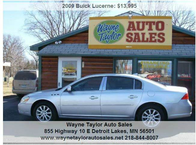 2009 Buick Lucerne for sale at Wayne Taylor Auto Sales in Detroit Lakes MN