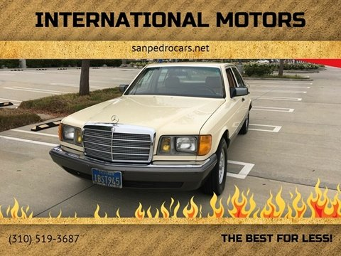 1981 Mercedes-Benz 300-Class for sale at International Motors in San Pedro CA
