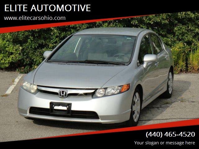 2006 Honda Civic For Sale At ELITE AUTOMOTIVE In Euclid OH