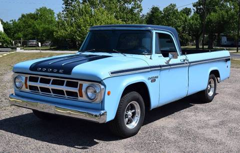 1968 Dodge D100 Pickup for sale at Pat's Auto Sales in Pilot Point TX