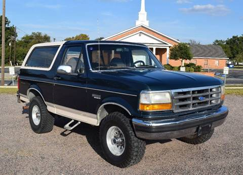1993 Ford Bronco for sale at Pat's Auto Sales in Pilot Point TX