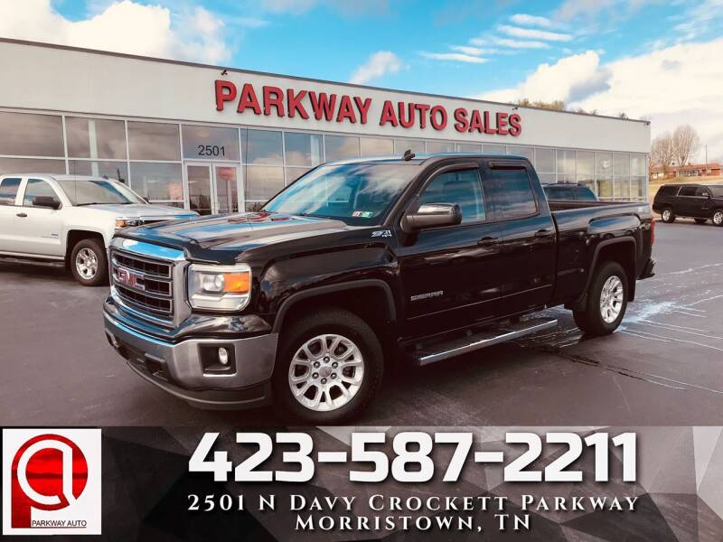 2014 gmc sierra 1500 4x4 sle 4dr double cab 6 5 ft sb in morristown tn parkway auto sales inc parkway auto sales