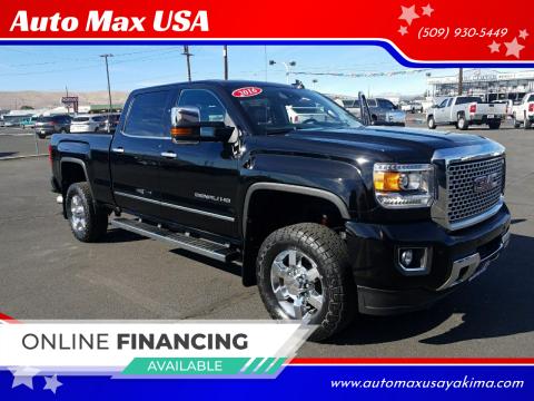 2016 GMC Sierra 3500HD for sale at Auto Max USA in Yakima WA