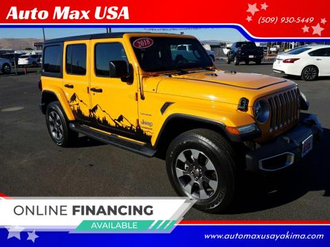 2018 Jeep Wrangler Unlimited for sale at Auto Max USA in Yakima WA