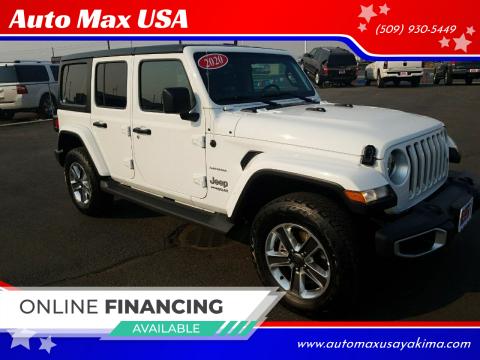 2020 Jeep Wrangler Unlimited for sale at Auto Max USA in Yakima WA
