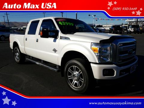2013 Ford F-350 Super Duty for sale at Auto Max USA in Yakima WA