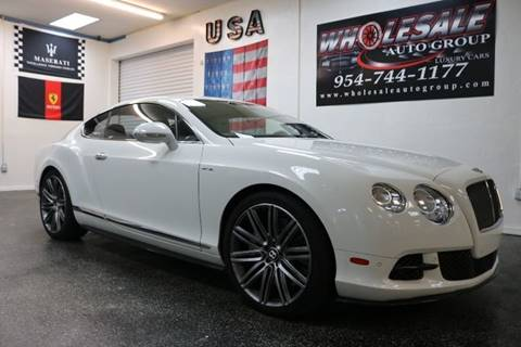 2014 Bentley Continental for sale in Fort Lauderdale, FL
