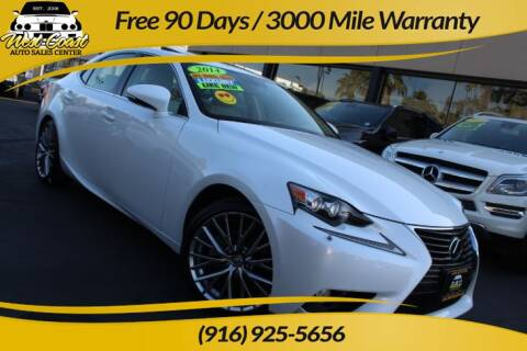 2014 Lexus IS 250 for sale at West Coast Auto Sales Center in Sacramento CA