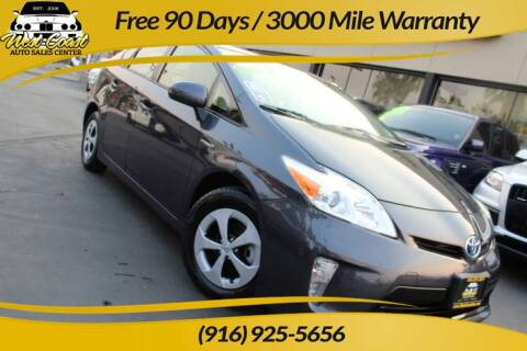 2013 Toyota Prius for sale at West Coast Auto Sales Center in Sacramento CA