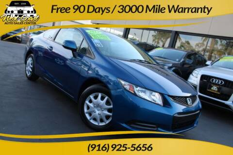 2013 Honda Civic for sale at West Coast Auto Sales Center in Sacramento CA