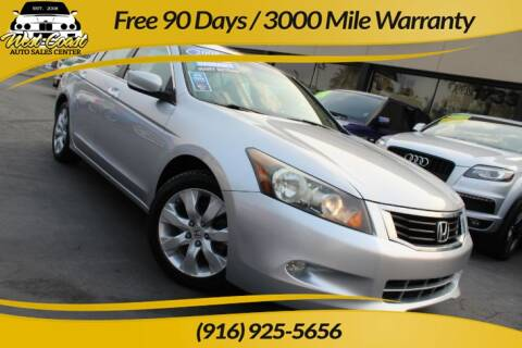 2008 Honda Accord for sale at West Coast Auto Sales Center in Sacramento CA