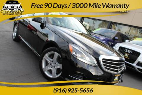 2014 Mercedes-Benz E-Class for sale at West Coast Auto Sales Center in Sacramento CA