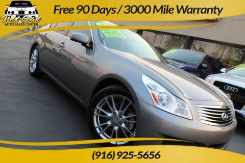 2007 Infiniti G35 for sale at West Coast Auto Sales Center in Sacramento CA