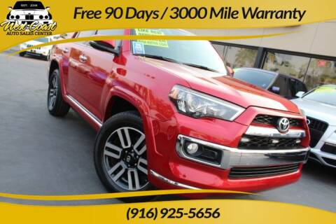 2015 Toyota 4Runner for sale at West Coast Auto Sales Center in Sacramento CA