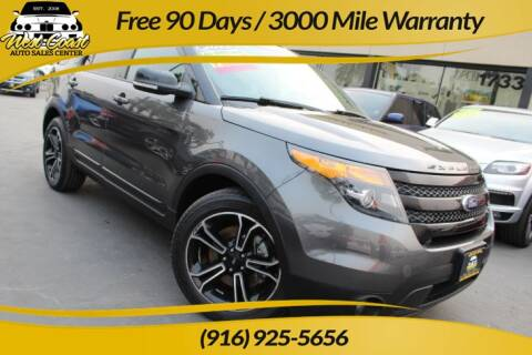 2015 Ford Explorer for sale at West Coast Auto Sales Center in Sacramento CA