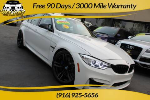 2016 BMW M3 for sale at West Coast Auto Sales Center in Sacramento CA