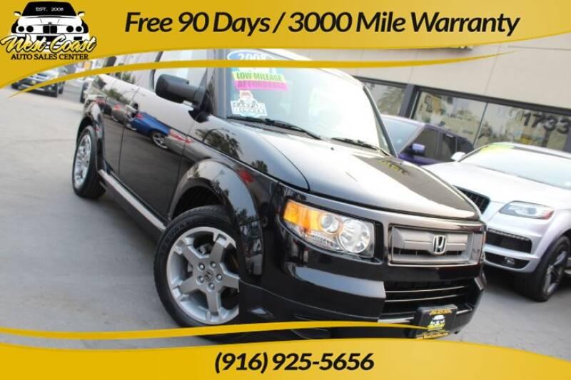 2008 Honda Element for sale at West Coast Auto Sales Center in Sacramento CA