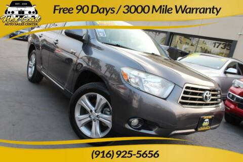 2008 Toyota Highlander for sale at West Coast Auto Sales Center in Sacramento CA