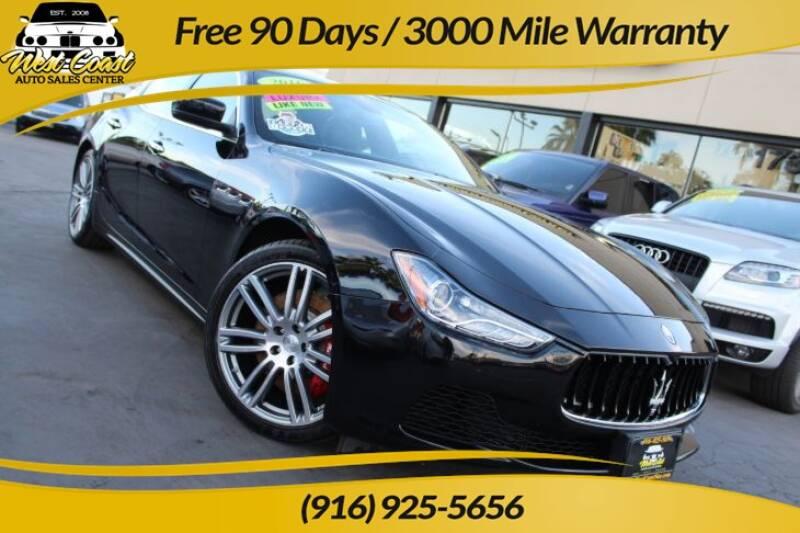 2016 Maserati Ghibli for sale at West Coast Auto Sales Center in Sacramento CA