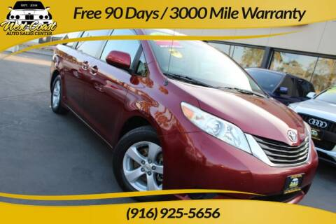 2011 Toyota Sienna for sale at West Coast Auto Sales Center in Sacramento CA
