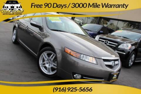 2008 Acura TL for sale at West Coast Auto Sales Center in Sacramento CA