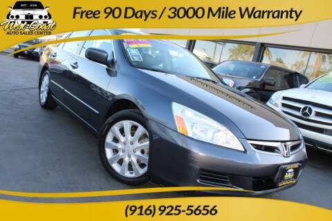 2006 Honda Accord for sale at West Coast Auto Sales Center in Sacramento CA