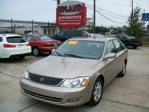 used 2001 toyota avalon for sale in houston tx. Black Bedroom Furniture Sets. Home Design Ideas