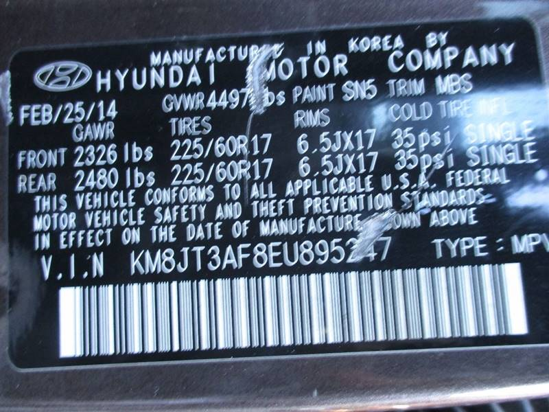 2014 Hyundai Tucson GLS 4dr SUV - Orange NJ