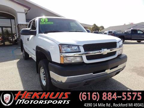 2003 Chevrolet Silverado 2500HD for sale at Hekhuis Motorsports in Rockford MI