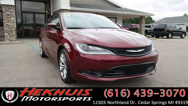 2015 Chrysler 200 for sale at Hekhuis Motorsports of Cedar Springs in Cedar Springs MI