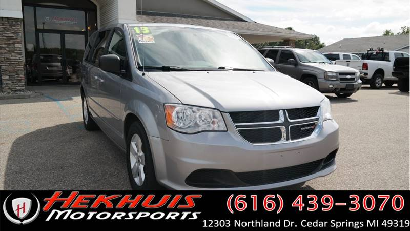 2013 Dodge Grand Caravan for sale at Hekhuis Motorsports of Cedar Springs in Cedar Springs MI