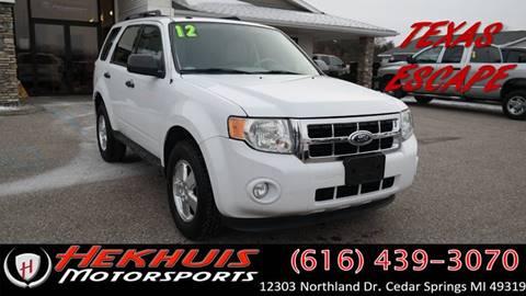 2012 Ford Escape for sale at Hekhuis Motorsports of Cedar Springs in Cedar Springs MI